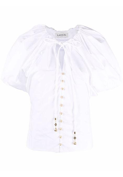 Blusa con maniche a palloncino donna white LANVIN | Bluse | RWTO0010440800