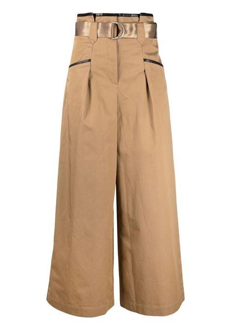 Self-portrait wide leg trousers women camel SELF-PORTRAIT | Trousers | SS21015TCML