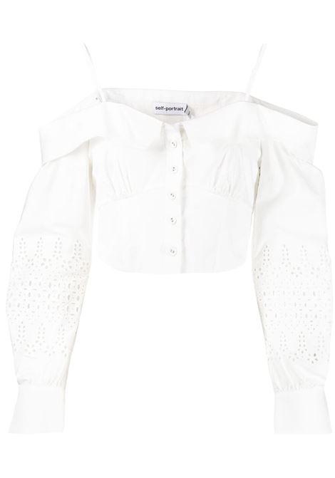 Self-portrait off-shoulder blouse women white SELF-PORTRAIT | Blouses | SS21071WWHT