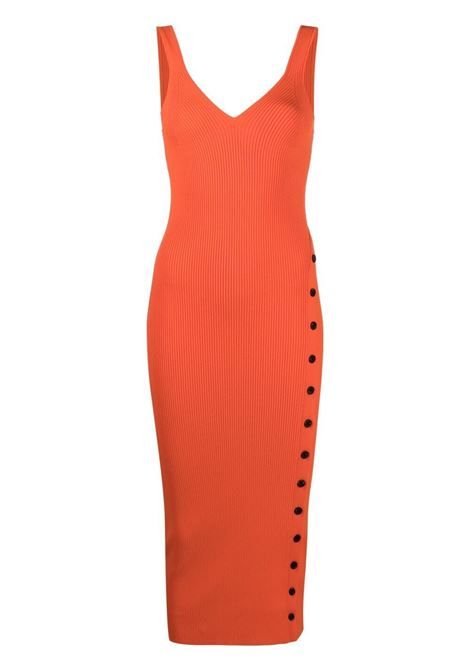 Self-portrait v-neck dress women orange SELF-PORTRAIT | Dresses | SS21090ORNG